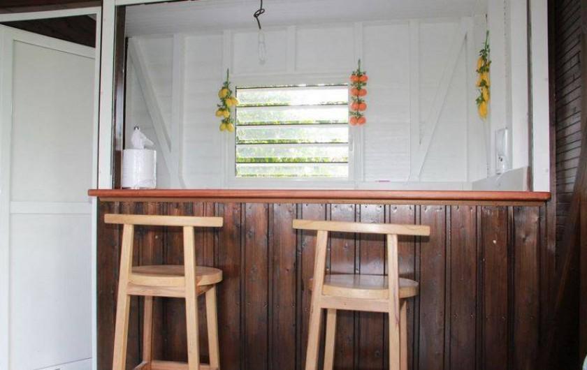 Location de vacances - Bungalow - Mobilhome à Rivière-Salée - Point BAR donnant sur Terrasse