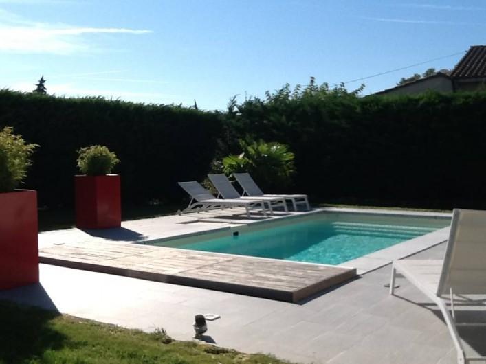 Location de vacances - Villa à Velleron - Piscine avec volet électrique
