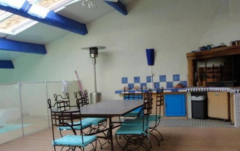 Location de vacances - Mas à Capestang - TERRASSEAVEC BARBECUE