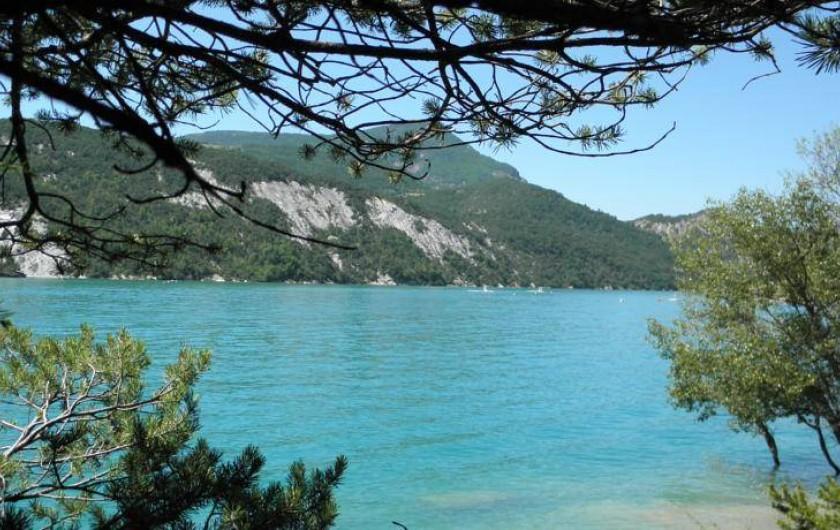 Location de vacances - Gîte à Méolans-Revel - Le lac de Serre Ponçon