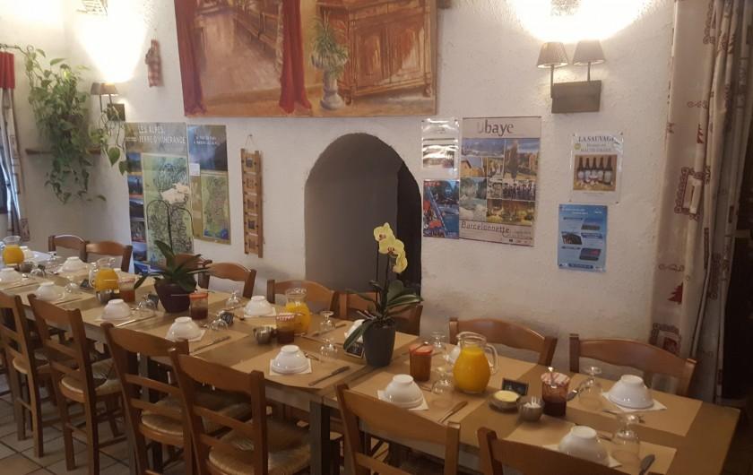 Location de vacances - Gîte à Méolans-Revel - Le petit déjeuner aux Terres Blanches