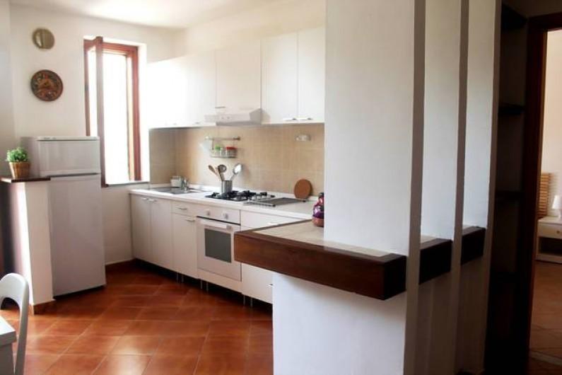 Location de vacances - Appartement à Agropoli - Le sejour avec la cuisine