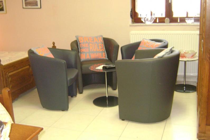 Location de vacances - Chambre d'hôtes à Trivières - SALON PRIVE DANS CHAMBRE ROME