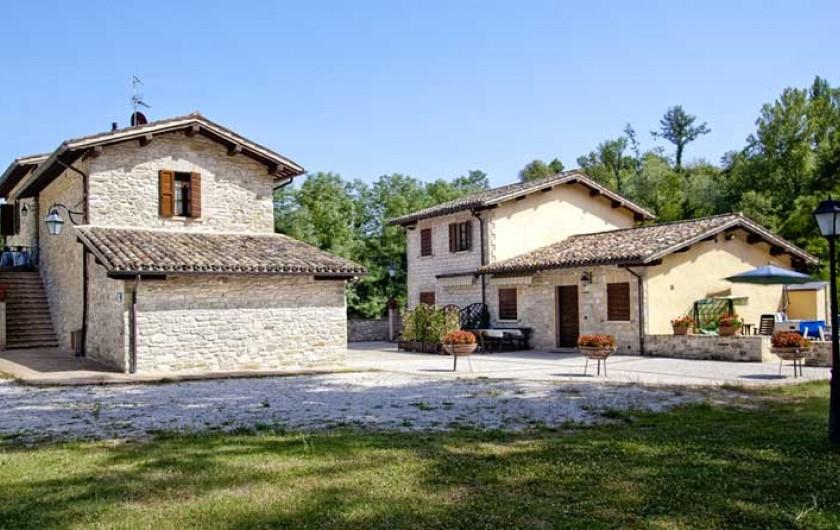 Location de vacances - Appartement à Gubbio - Vue des 2 gites