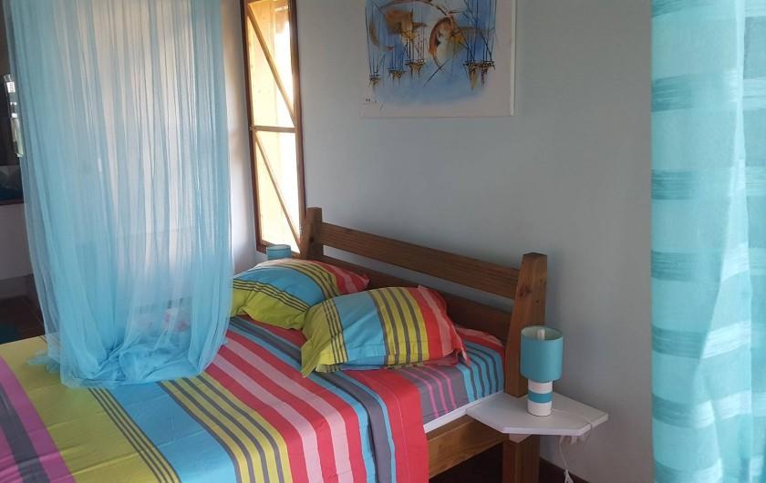 """Location de vacances - Bungalow - Mobilhome à Saint-François - Intérieur du bungalow """"Chocolat-vanille"""""""