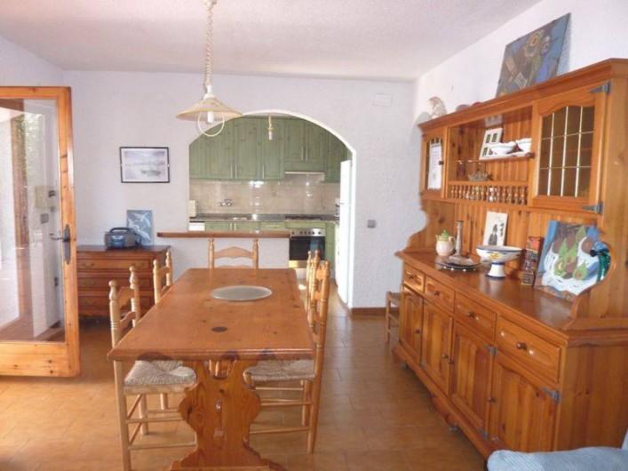 Location de vacances - Villa à L'Ametlla de Mar - séjour avec cuisine américaine