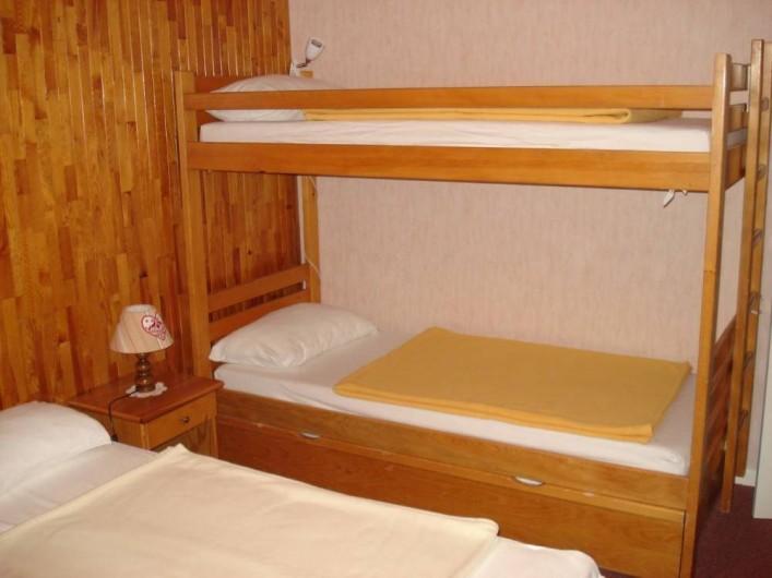Location de vacances - Appartement à Le Lavachet - deux lits superposés de 80