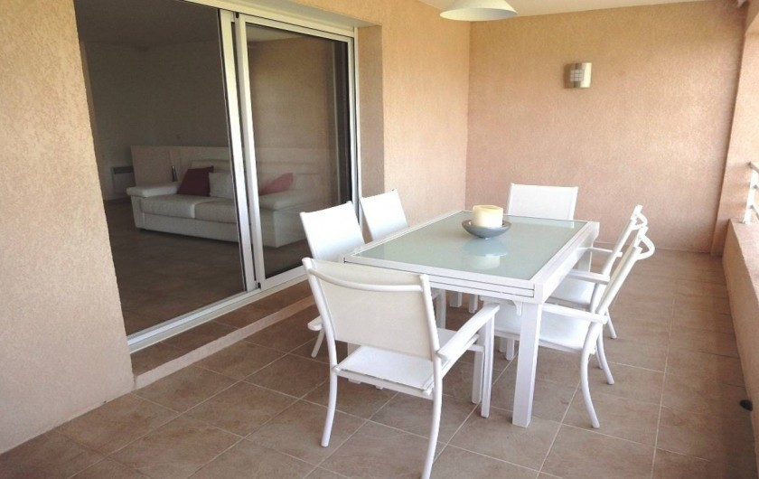 Location de vacances - Villa à Porticcio - TERRASSE VUE MER ET PLAGE