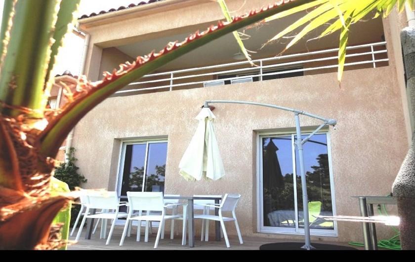 Location de vacances - Villa à Porticcio - TERRASSE EN REZ DE JARDIN