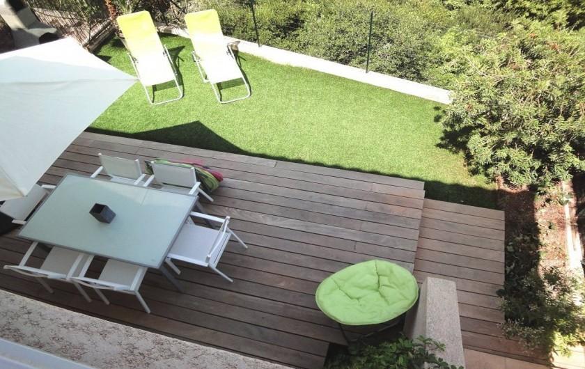 Location de vacances - Villa à Porticcio - TERRASSE VUE DU 1ER