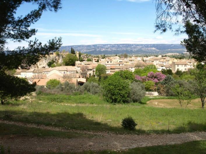 Location de vacances - Villa à Alleins - vue panoramique du village provençal d'Alleins