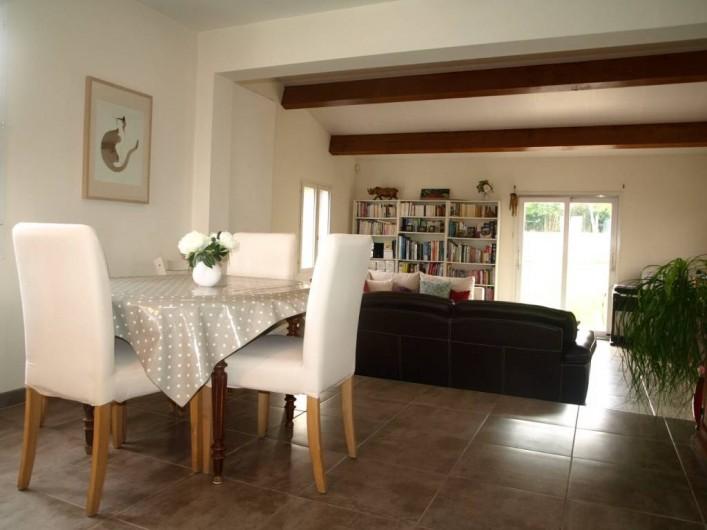 Location de vacances - Villa à Alleins - grand espace séjour/salon