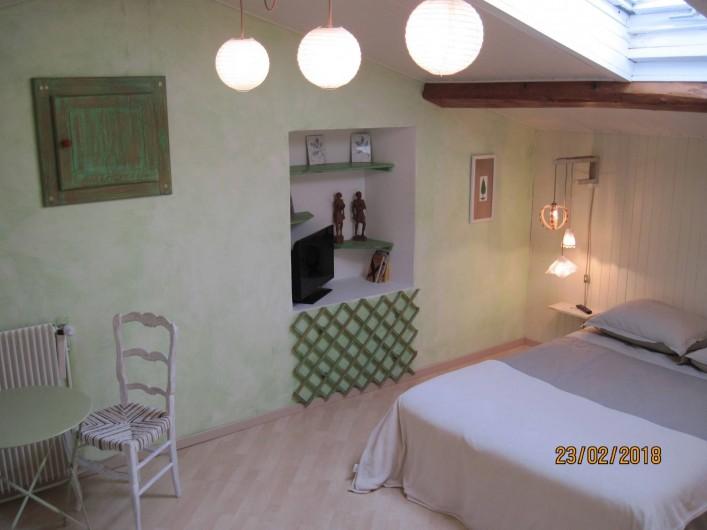 Location de vacances - Chambre d'hôtes à Pélussin - la chambre côté parents