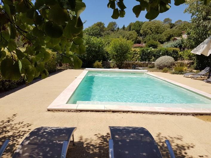 Location de vacances - Mas à Lorgues - Autre vue piscine