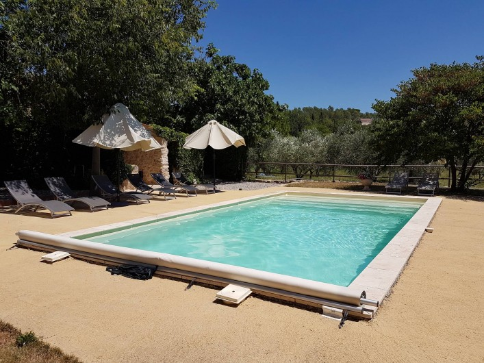 Location de vacances - Mas à Lorgues - Piscine 4.30 x 8.30