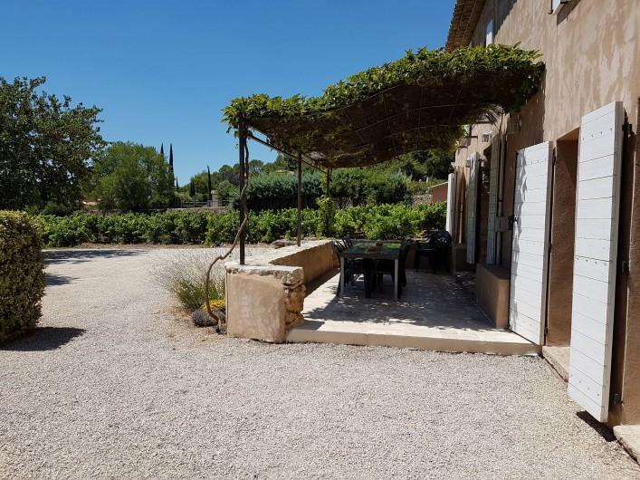 Location de vacances - Mas à Lorgues - Terrasse