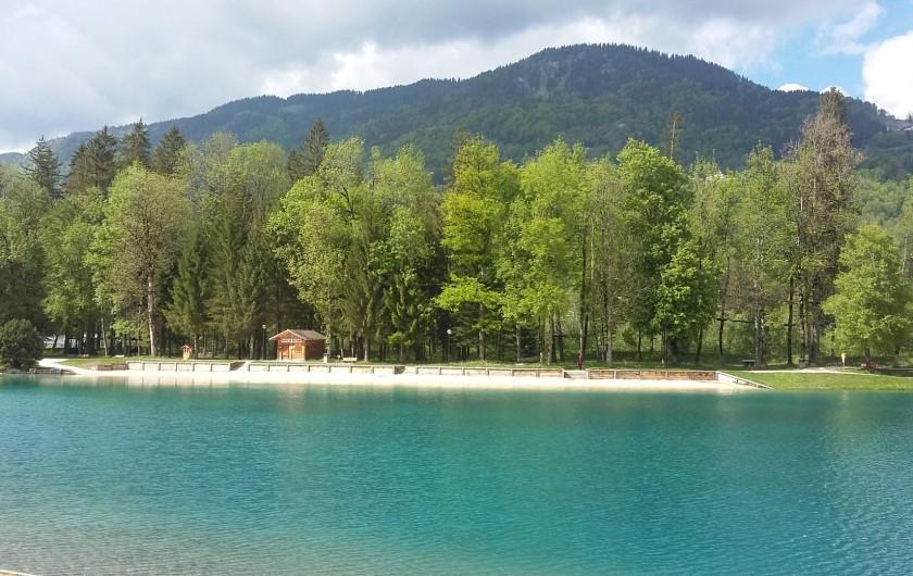 Location de vacances - Chalet à Morillon - Le Lac BLeu à 500 m à pieds ( baignade surveillée)