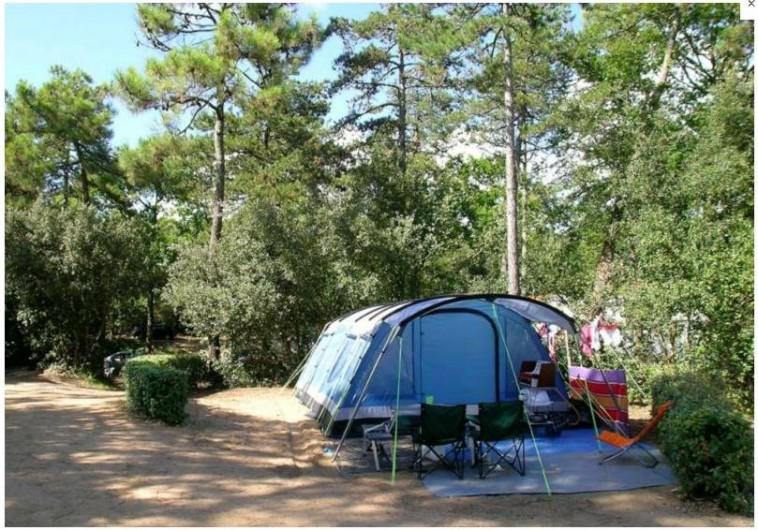 Location de vacances - Camping à Longeville-sur-Mer - Emplacement tente