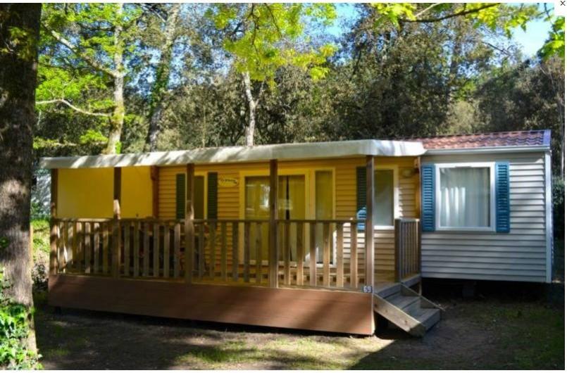 Location de vacances - Camping à Longeville-sur-Mer - Mobile-home Canaries extérieur