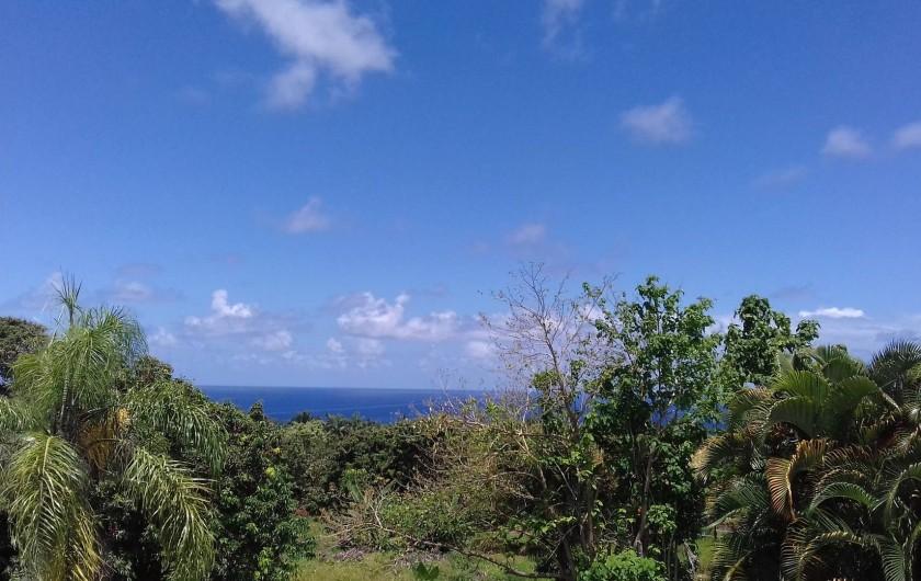 Location de vacances - Appartement à Sainte-Rose - Terrasse vue mer