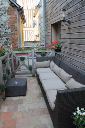 Location de vacances - Hôtel - Auberge à Honfleur - Terrasse Maison Des Loges