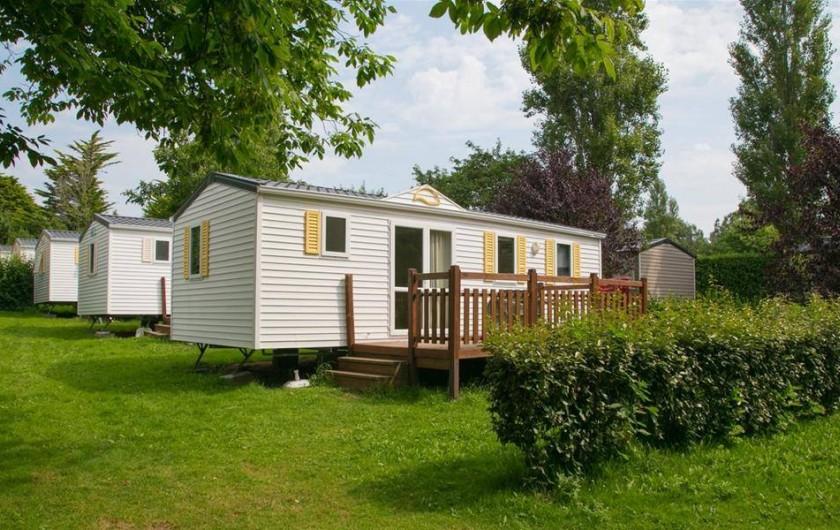 Location de vacances - Camping à Bénodet - Mobil-home avec sanitaire 40m²