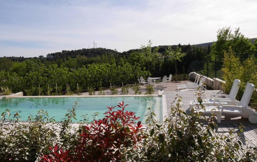 Location de vacances - Maison - Villa à Brue-Auriac - La piscine et la plage...