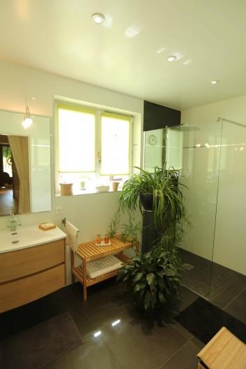 Location de vacances - Chambre d'hôtes à Marlenheim - La salle d'eau avec sa douche à l'Italienne