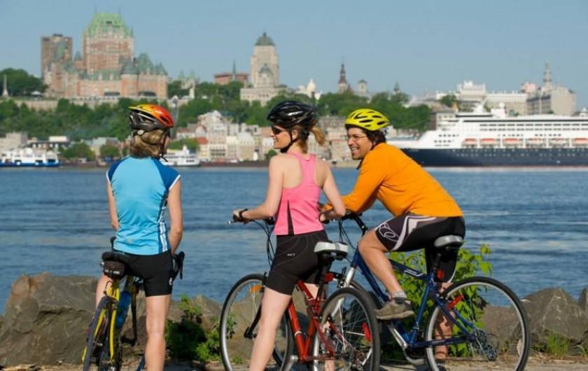 Location de vacances - Hôtel - Auberge à Ville de Québec - Location des vélos et même d'un Tandem - 4 pistes cyclables débutent ici