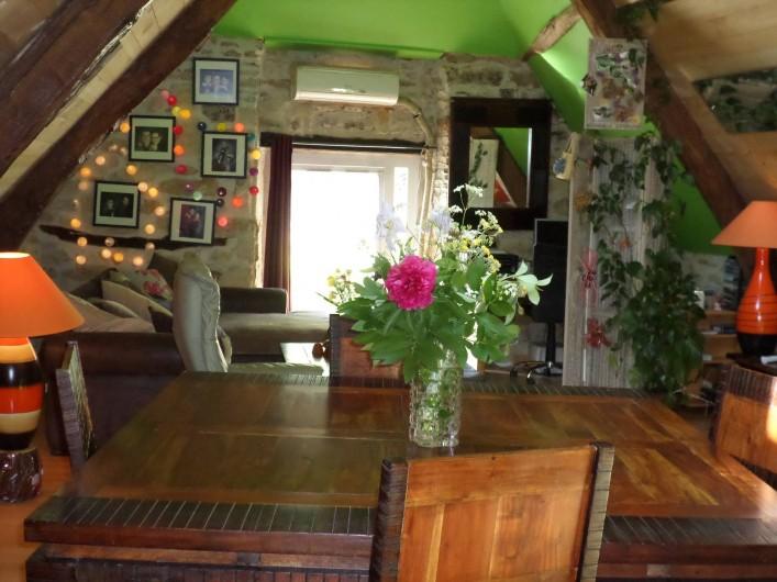 Location de vacances - Maison - Villa à Causse-et-Diège - pièce à vivre très accueillante