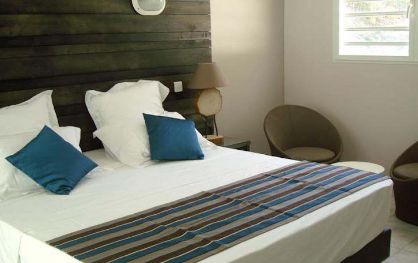 Location de vacances - Hôtel - Auberge à Terre-de-Haut - Intérieur de votre chambre vue mer !!