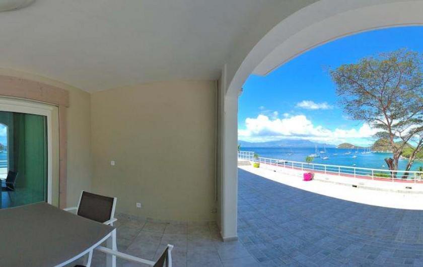 Location de vacances - Hôtel - Auberge à Terre-de-Haut - Terrasse de votre chambre vue mer !!