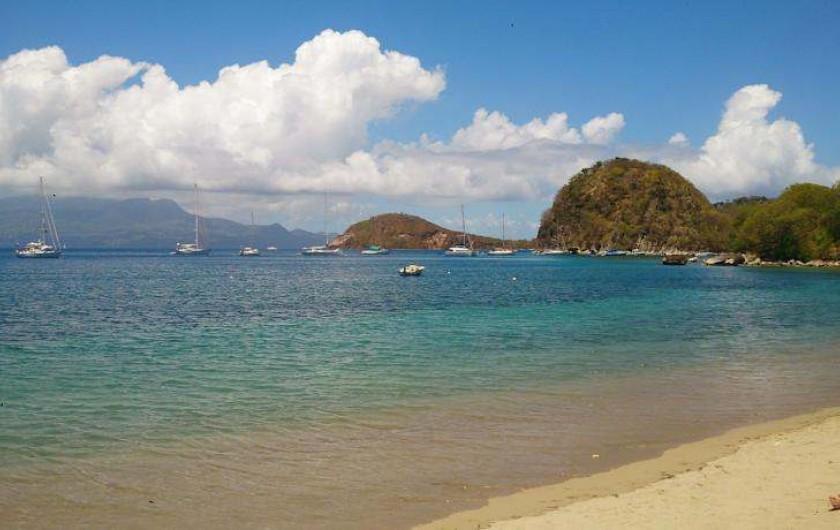Location de vacances - Hôtel - Auberge à Terre-de-Haut - Vue sur le Pain de sucre de votre plage privative !!