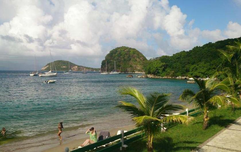 Location de vacances - Hôtel - Auberge à Terre-de-Haut - Vue d'ensemble de votre plage !!