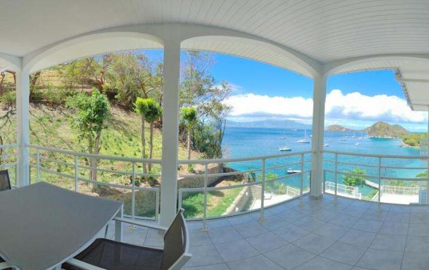 Location de vacances - Hôtel - Auberge à Terre-de-Haut - Vue manifique de votre chambre vue mer !!
