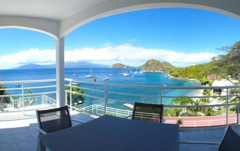 Location de vacances - Hôtel - Auberge à Terre-de-Haut - Vue panoramique de votre chambre vue mer !!