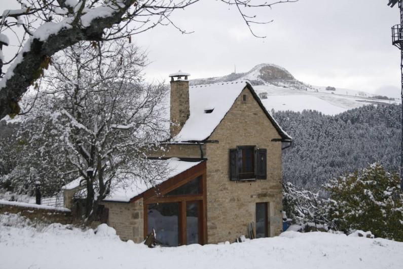 Location de vacances - Gîte à Marvejols - un jour de neige