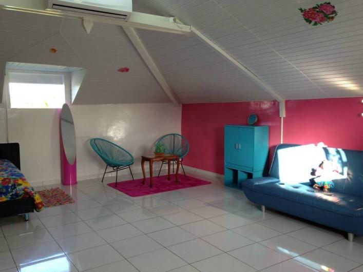Location de vacances - Bungalow - Mobilhome à Sainte-Anne - Studio Myosotis - Coin Salon
