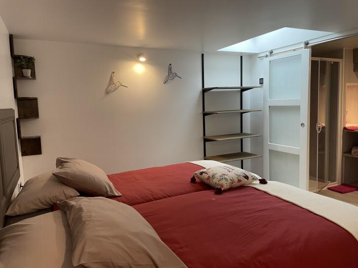 Location de vacances - Villa à Écollemont - Ch 2 avec salle d'eau priv. Soit lits séparés 90 X 200 Soit 180 X 200