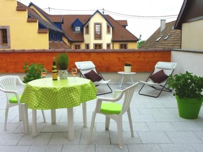 "Location de vacances - Gîte à Orschwiller - ""Myriam"" Terrasse"