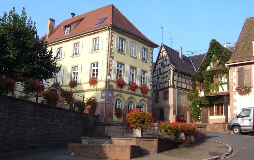 Location de vacances - Gîte à Orschwiller - Parking dans cour intérieure
