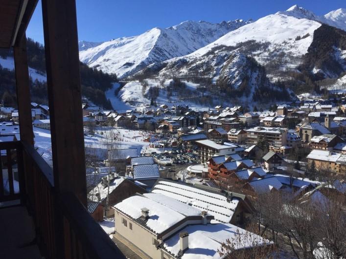 Location de vacances - Appartement à Valloire - Vue depuis le balcon des chambres