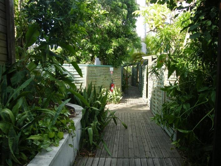Location de vacances - Appartement à Saint-Gilles les Bains - Allée vers les meublés