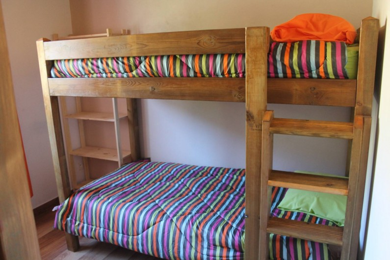 Location de vacances - Chalet à Cilaos - chambre avec 2 lits superposés