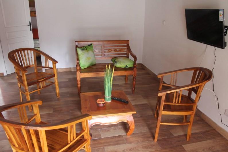 Location de vacances - Chalet à Cilaos - coin salon