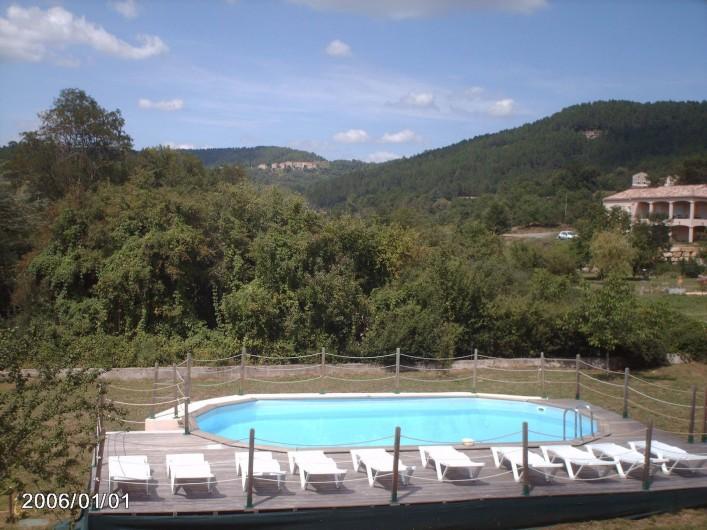 Location de vacances - Gîte à Grospierres - Piscine Mas de la Chataigneraie