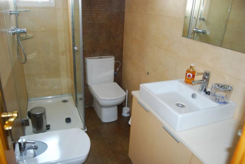 Location de vacances - Appartement à Santa Pola - Salle de douche + wc
