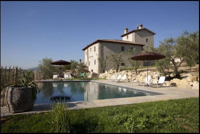 Location de vacances - Villa à San Donato In Collina - Vu de la Villa depuis la piscine