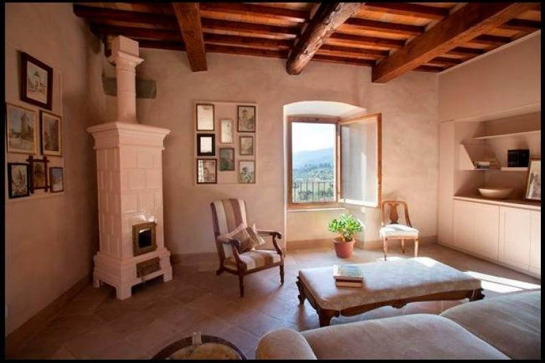 Location de vacances - Villa à San Donato In Collina - salon TV dans la Tour
