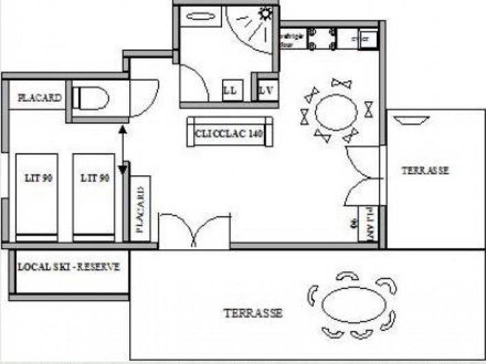 Location de vacances - Appartement à Oz - Plan de l'appartement
